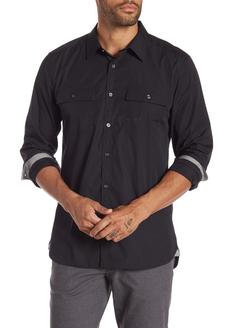 Kenneth Cole Regular Fit Chest Pocket Shirt