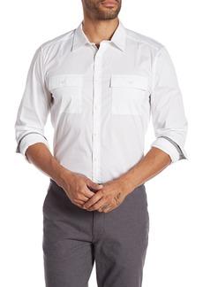 Kenneth Cole Regular Fit Chest Pocket Shirt
