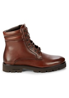 Kenneth Cole Rhode Leather Lug Boots