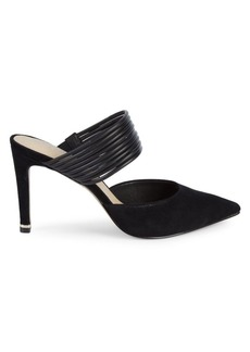 Kenneth Cole Riley Suede Heeled Mules
