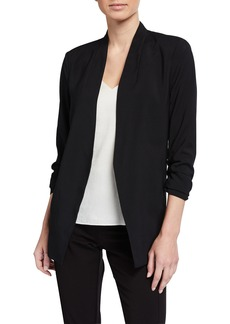 Kenneth Cole Satin-Back Crepe Jacket