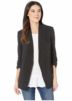 Kenneth Cole Satin Back Crepe Jacket