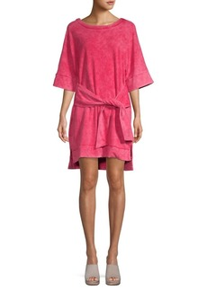 Kenneth Cole Self-Tie Shift Dress