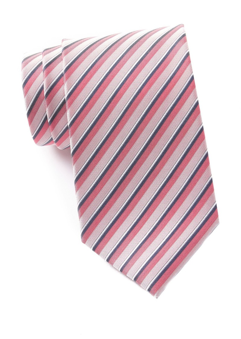 Kenneth Cole Shadow Stripe Silk Blend Tie