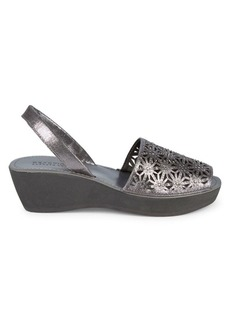 Kenneth Cole Shine Far Metallic Wedge Sandals