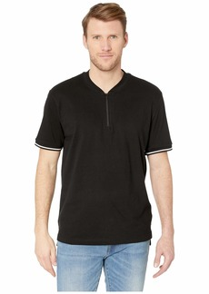 Kenneth Cole Short Sleeve 1/4 Zip Solid