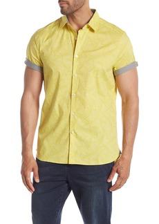Kenneth Cole Short Sleeve Banana Leaf Print Shirt