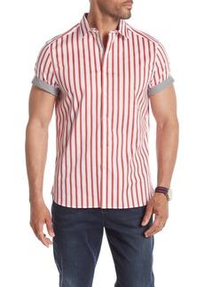 Kenneth Cole Short Sleeve Bold Stripe Shirt
