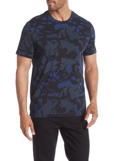 Kenneth Cole Short Sleeve Camo Print T-Shirt