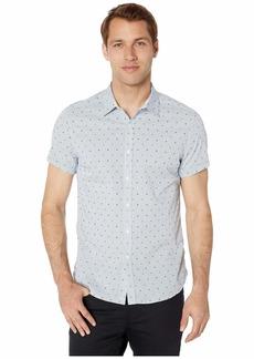 Kenneth Cole Short Sleeve Check w/ Clip Dobby Shirt