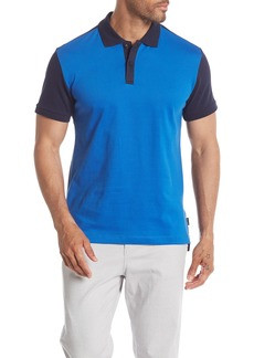 Kenneth Cole Short Sleeve Colorblock Polo