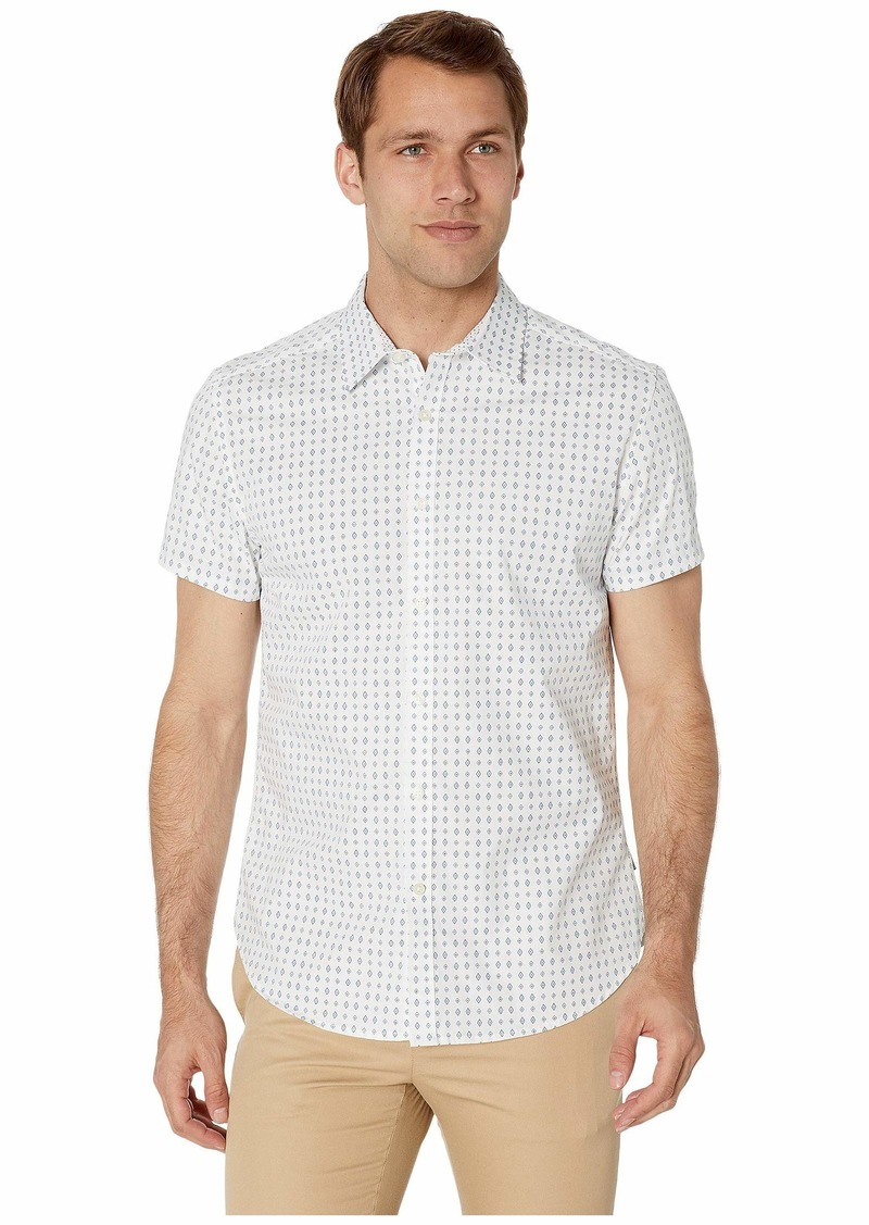 Kenneth Cole Short Sleeve Diamond Print Shirt