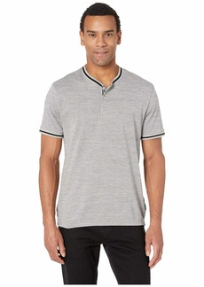 Kenneth Cole Short Sleeve Dobby Band Collar