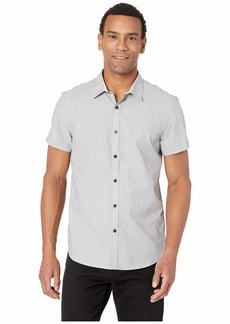 Kenneth Cole Short Sleeve End on End Mini Dot Print