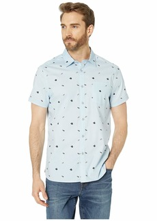 Kenneth Cole Short Sleeve Flip-Flop Print Shirt