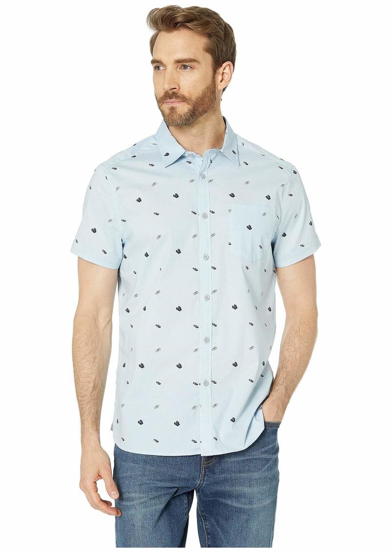 Kenneth Cole Short Sleeve Flip-Flop Print Shirt