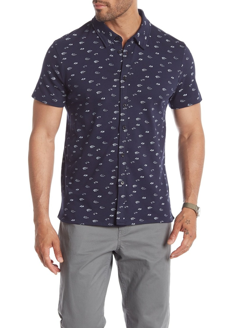 Kenneth Cole Short Sleeve Floral Print Shirt