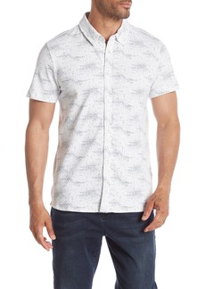Kenneth Cole Short Sleeve Galaxy Print Polo