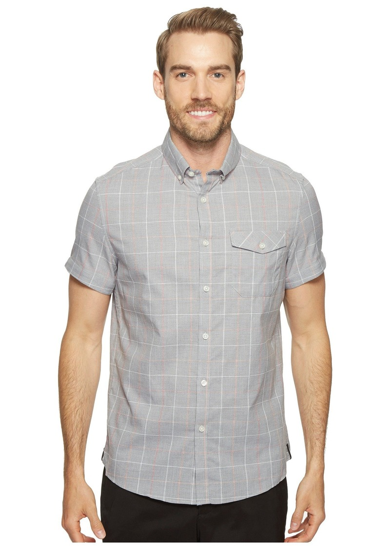 Kenneth Cole Short Sleeve Grindle Check Shirt
