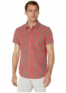 Kenneth Cole Short Sleeve Heather Check Shirt