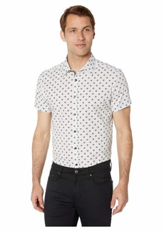 Kenneth Cole Short Sleeve Hibiscus Print Shirt