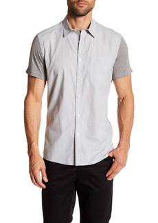 Kenneth Cole Short Sleeve Jersey Contrast Regular Fit Shirt