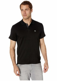 Kenneth Cole Short Sleeve Logo Polo