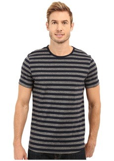 Kenneth Cole Short Sleeve Marled Stripe Crew