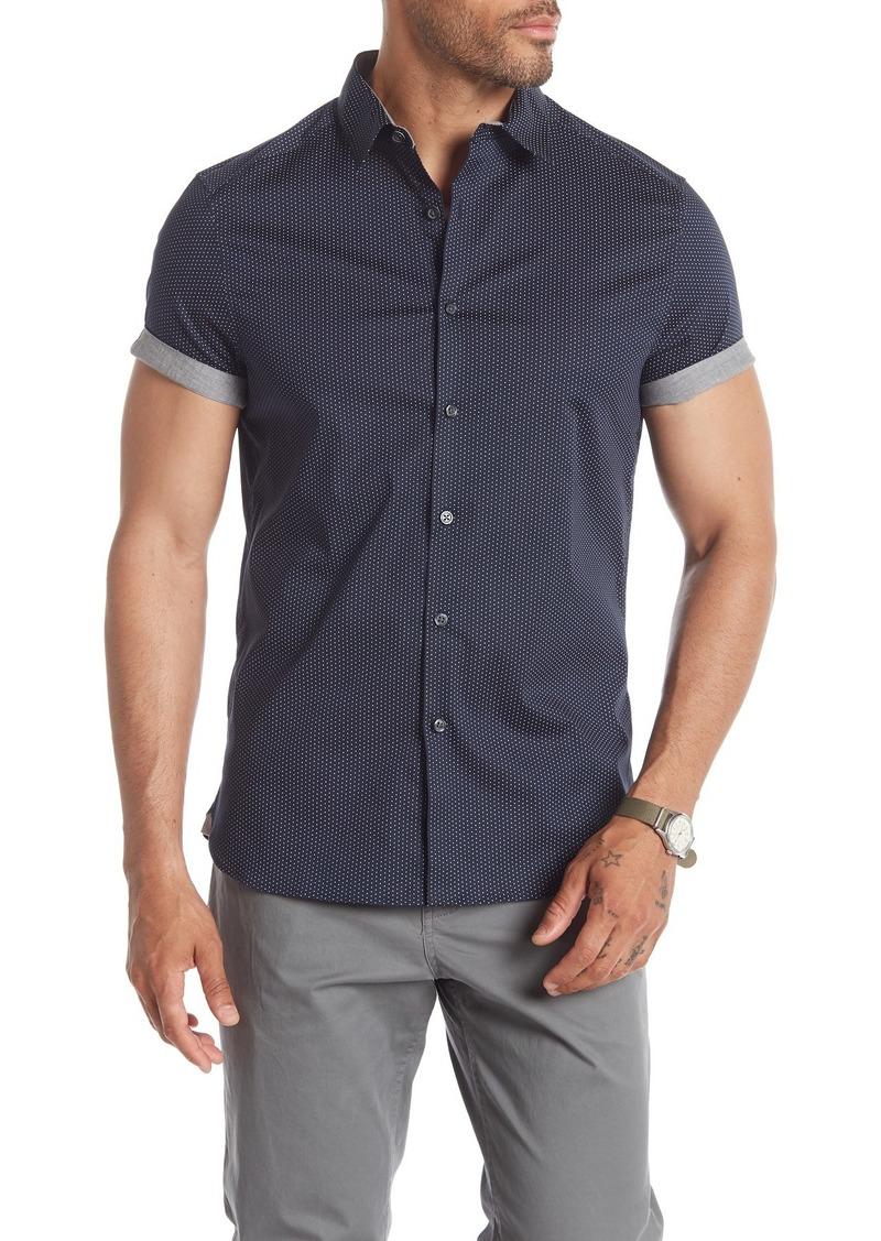 Kenneth Cole Short Sleeve Mini Dot Print Shirt
