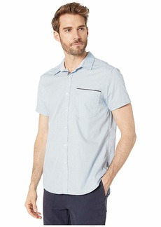 Kenneth Cole Short Sleeve Mini Square Dot Print Shirt