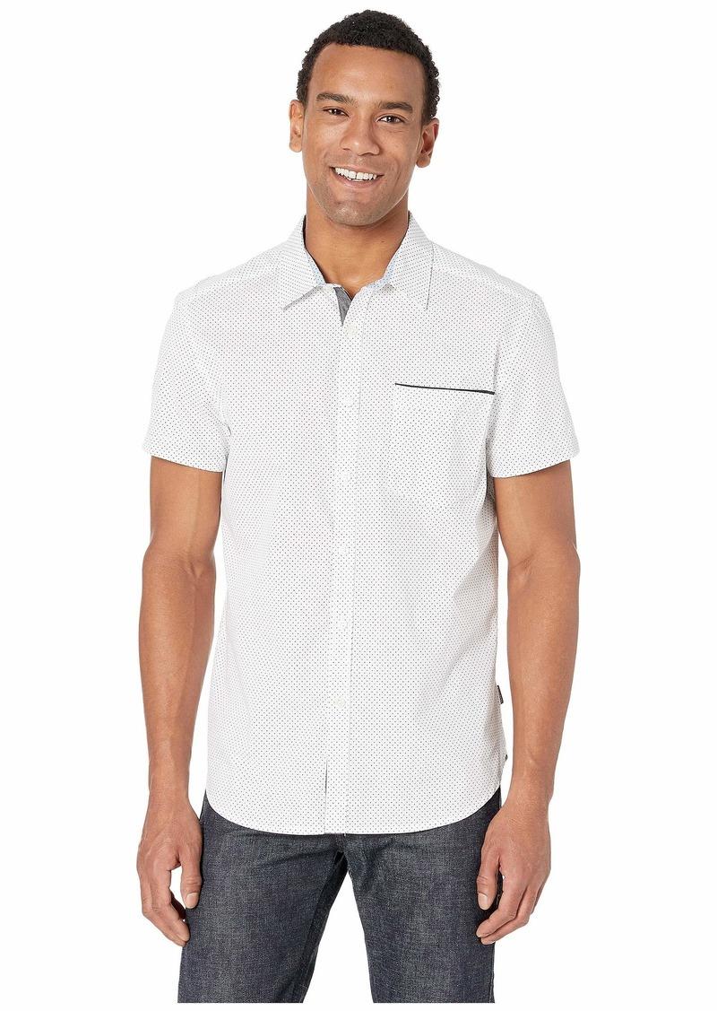Kenneth Cole Short Sleeve Mini Square Dot Print Shirt