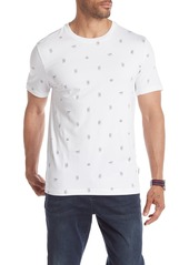 Kenneth Cole Short Sleeve Peace Signs Printed T-Shirt