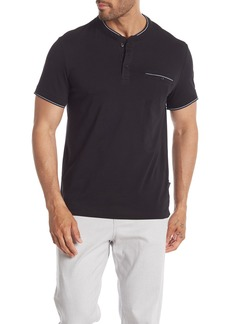 Kenneth Cole Short Sleeve Pocket Henley