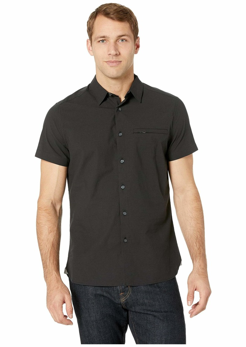 Kenneth Cole Short Sleeve Ripstop Shirt