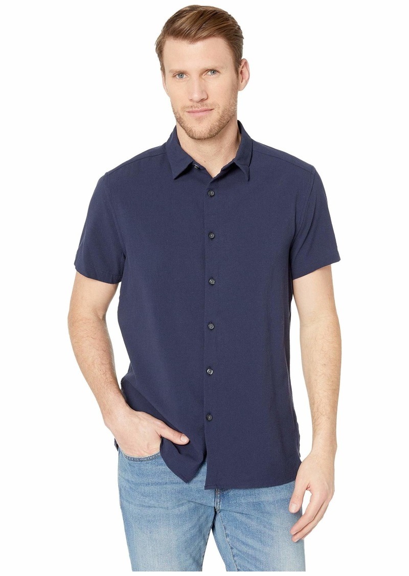 Kenneth Cole Short Sleeve Seersucker Shirt