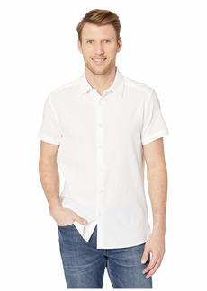 Kenneth Cole Short Sleeve Seersucker Shirt
