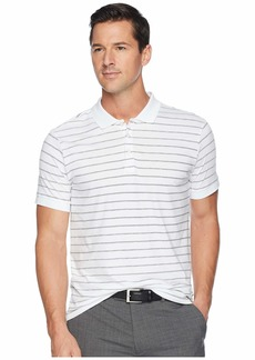 Kenneth Cole Short Sleeve Stripe Print Jersey Polo