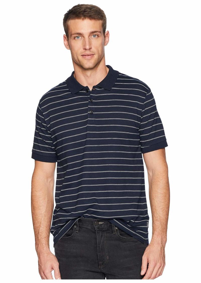 Kenneth Cole Short Sleeve Stripe Print Jersey Polo