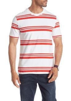 Kenneth Cole Short Sleeve Stripe Print T-Shirt
