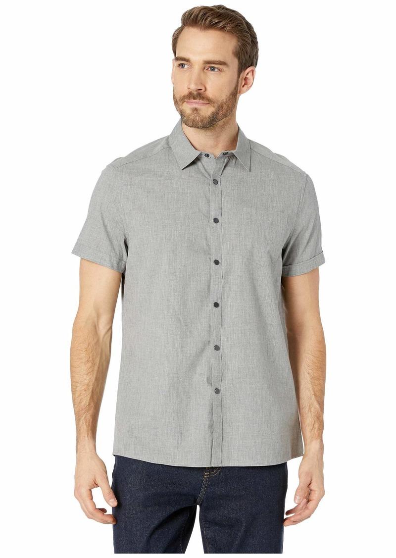 Kenneth Cole Short Sleeve Stripe Snap Shirt