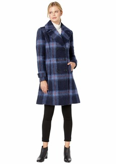Kenneth Cole Skirted Brushed Plaid Wool