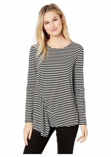 Kenneth Cole Smocked Long Sleeve Top