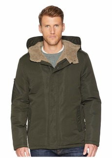 Kenneth Cole Softshell Faux Shearling with Hood