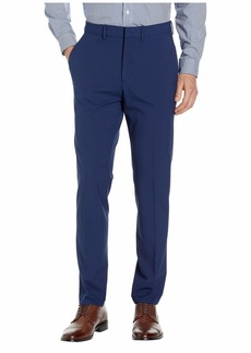 Kenneth Cole Solid Gab Four-Way Stretch Slim Fit Dress Pants
