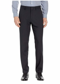 Kenneth Cole Solid Stretch Gab Modern Fit Flat Front Dress Pants