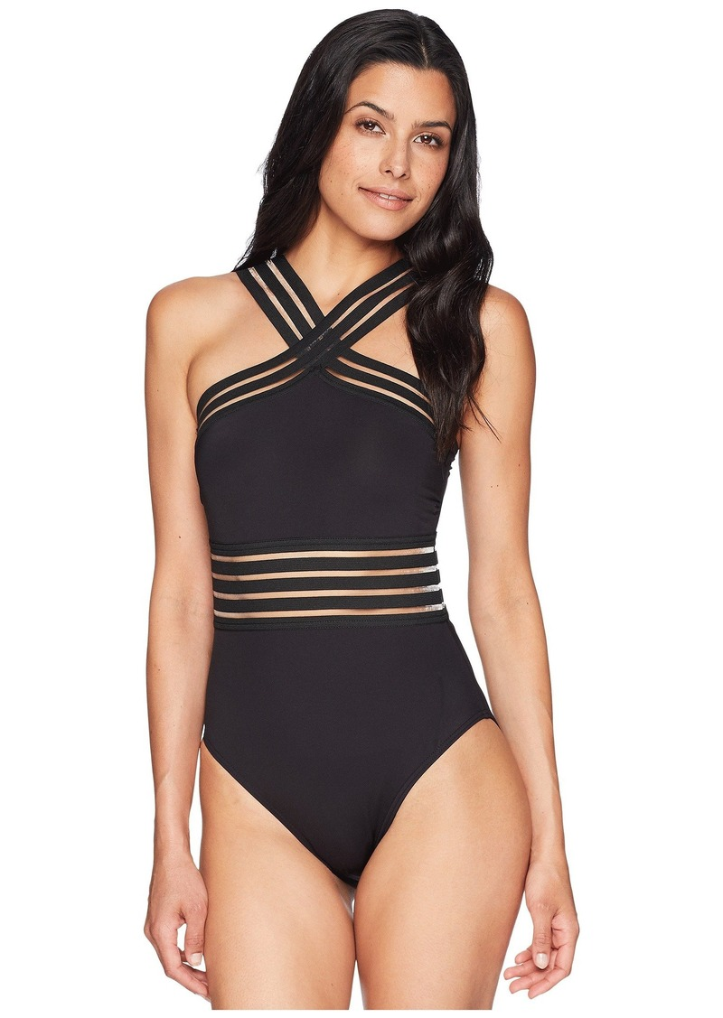 b919d13f80 Kenneth Cole Stompin' In My Stilettos High-Neck One-Piece | Swimwear