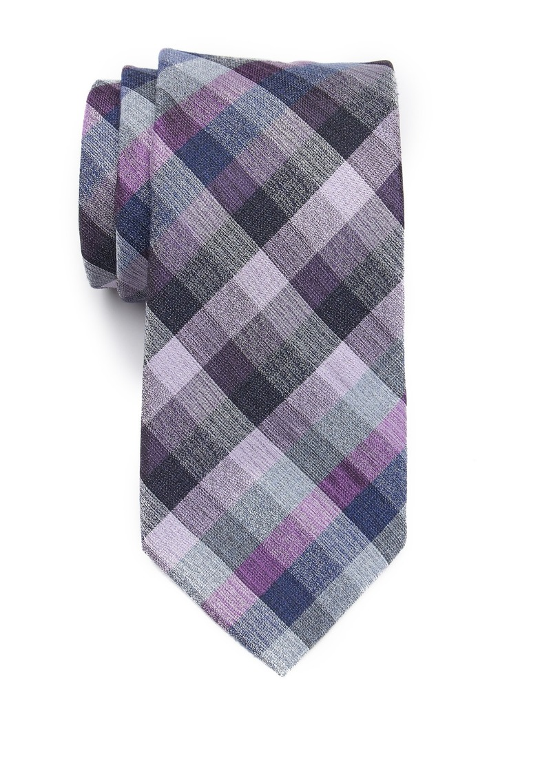 Kenneth Cole Stone Check Tie