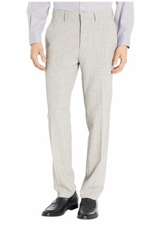 Kenneth Cole Stretch Flannel Slim Fit Flat Front Dress Pants