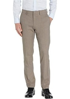 Kenneth Cole Stretch Heather Herringbone Slim Fit Flat Front Flex Waistband Dress Pants