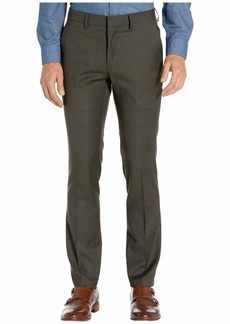 Kenneth Cole Stretch Micro Check Houndstooth Skinny Fit Flat Front Dress Pants